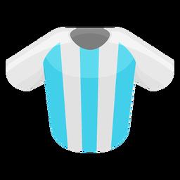 Icono de camiseta de fútbol argentina
