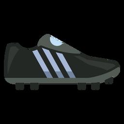 Icono de bota de fútbol negro