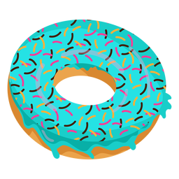 Blue glaze doughnut illustration