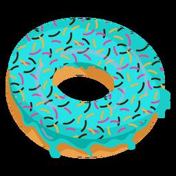 Ilustración de donut de esmalte azul