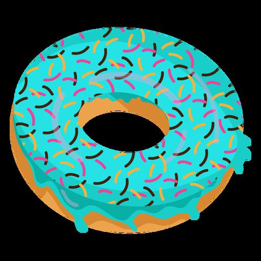 Ilustración de donut glaseado azul