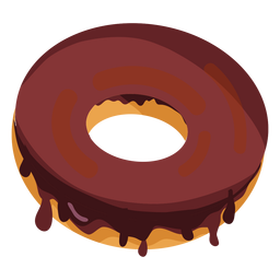 Chocolate doughnut illustration