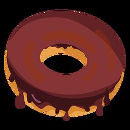 Ilustración de donut de chocolate
