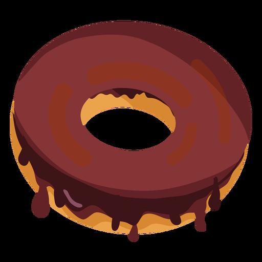 Chocolate doughnut illustration Transparent PNG