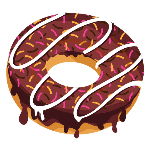 Chocolate doughnut with sprinkles Transparent PNG