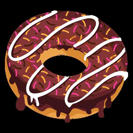 Chocolate doughnut with sprinkles