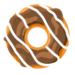 Chocolate vanilla doughnut illustration