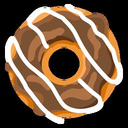 Chocolate vanilla doughnut illustration