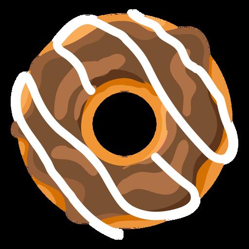 Chocolate vanilla doughnut illustration Transparent PNG