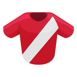 Costa rica football shirt icon