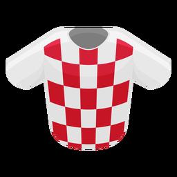 Ícone da camisa de futebol da Croácia