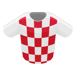 Icono de camiseta de fútbol de Croacia