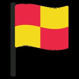 Icono de bandera de fuera de juego de fútbol