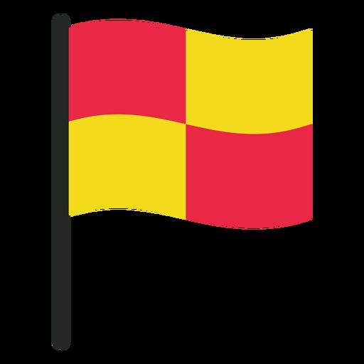Icono de bandera de fuera de juego de f?tbol