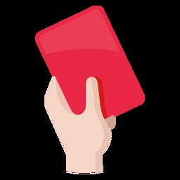 Icono de la tarjeta roja de fútbol