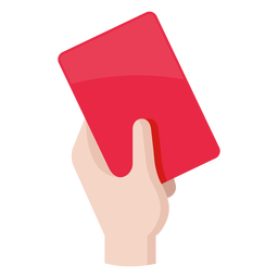 Icono de tarjeta roja de fútbol