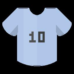 Ícone de camisa de futebol número 10