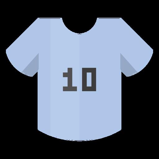 Icono de número 10 de camiseta de fútbol