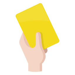 Football yellow card icon