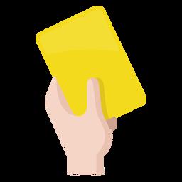 Icono de la tarjeta amarilla de fútbol