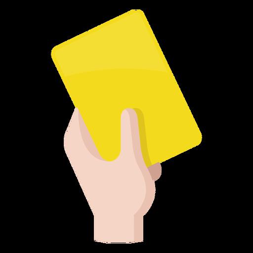 Ícone de cartão amarelo de futebol Transparent PNG
