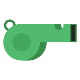 Green referee whistle icon