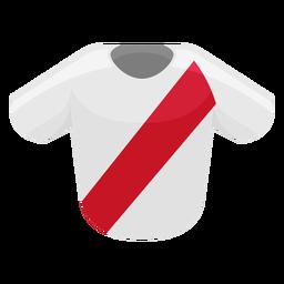 Ícone de camisa de futebol do Peru