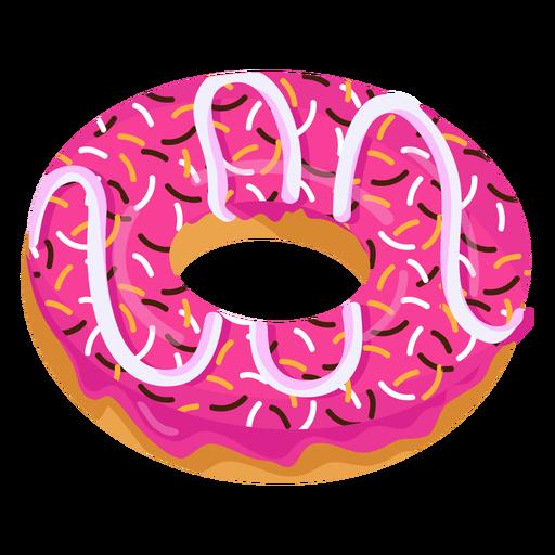 Pink glaze doughnut with sprinkles