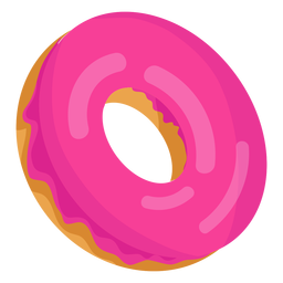 Strawberry doughnut illustration