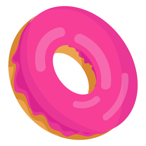 Strawberry doughnut illustration Transparent PNG
