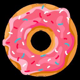 Donut de morango com granulado