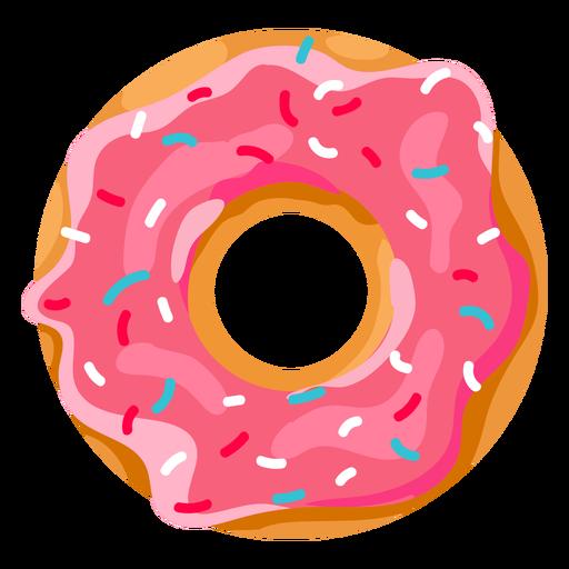 Strawberry doughnut with sprinkles