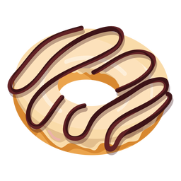 Vanilla chocolate doughnut illustration