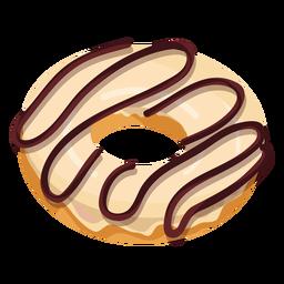 Vanilla chocolate doughnut illustration