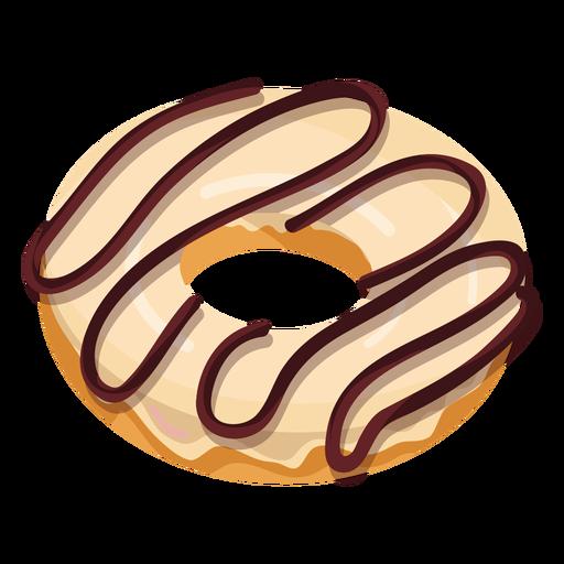 Vanilla chocolate doughnut illustration Transparent PNG