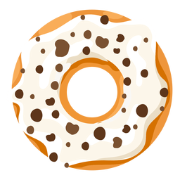 Vanilla doughnut illustration