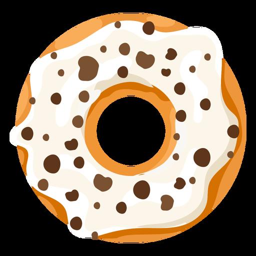 Vanilla doughnut illustration Transparent PNG