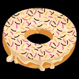 Donut de baunilha com granulado