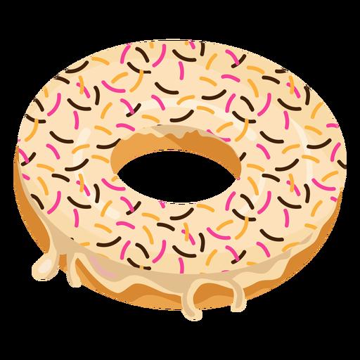 Vanilla doughnut with sprinkles