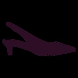 Sinal de ícone de sapato de mulheres