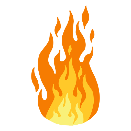 Fuego llama clipart Transparent PNG