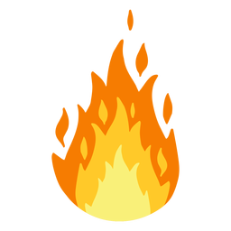 Fire burning illustration
