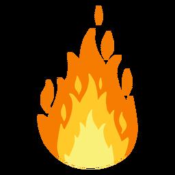 Ilustración de fuego ardiente