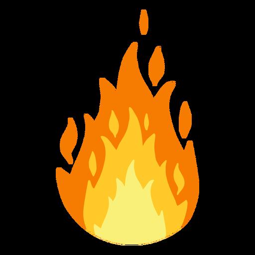 Ilustración de fuego ardiente Transparent PNG