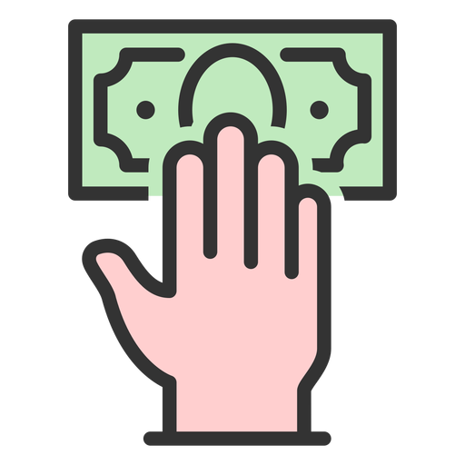 Mano con billete de un dólar Transparent PNG