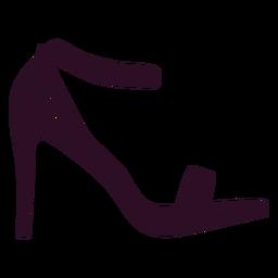 Zapato de tacón alto para mujer.