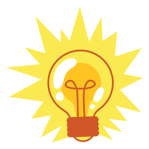 Shining light bulb Transparent PNG