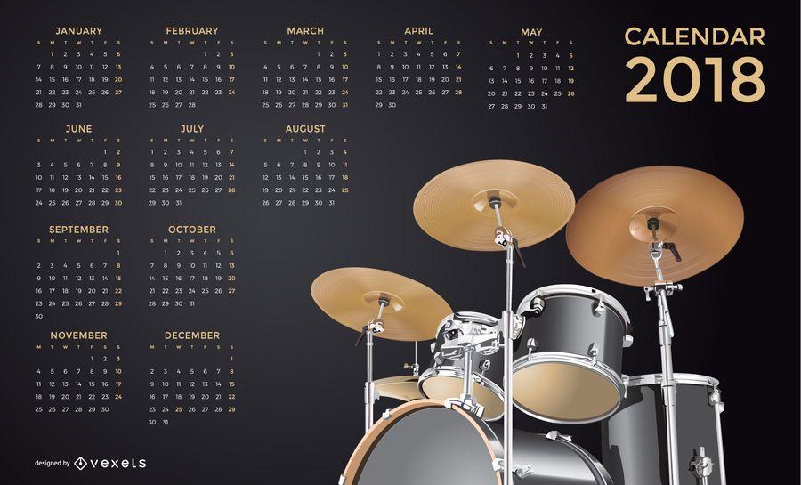 Kalender für Musik 2018