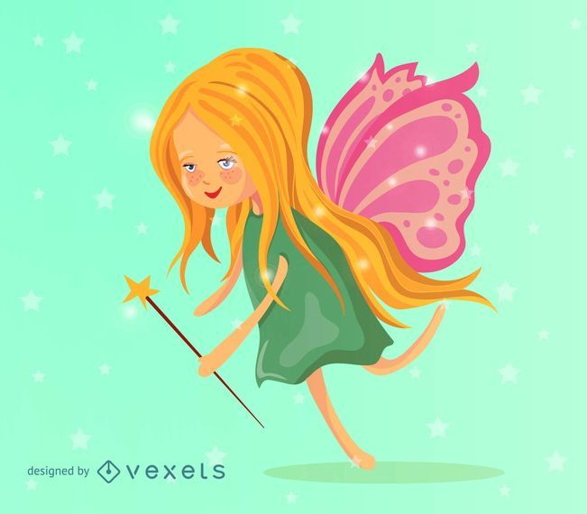 Cute fairy illustration
