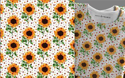 Sonnenblumenmusterwaren bereit